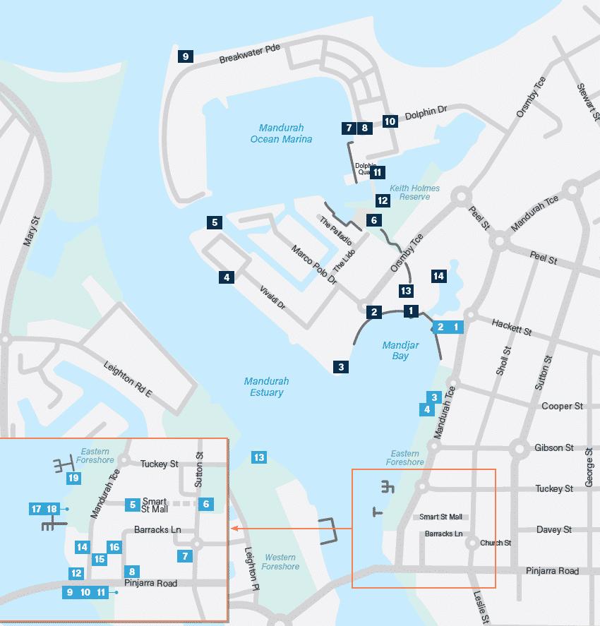 Mandurah Art Trail Map
