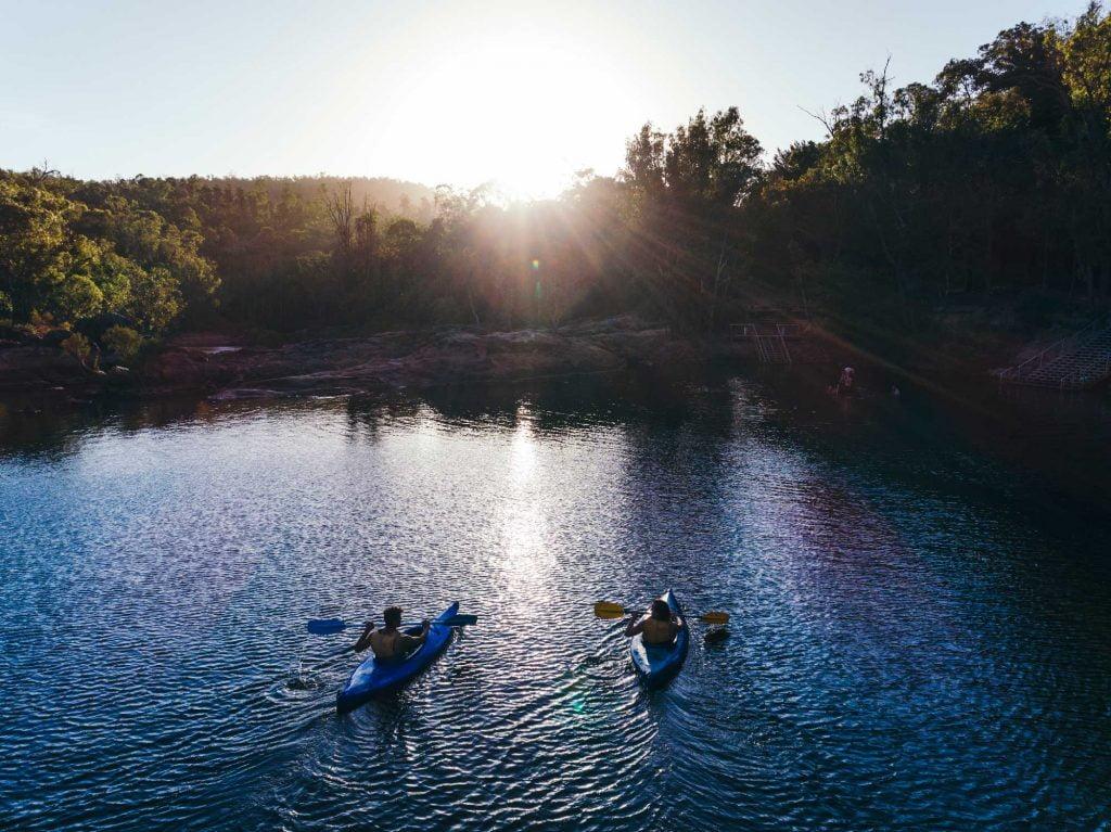 Kayaking at Lane Poole Reserve Dwellingup