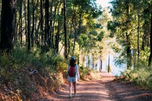 Walking at Waroona Dam 02