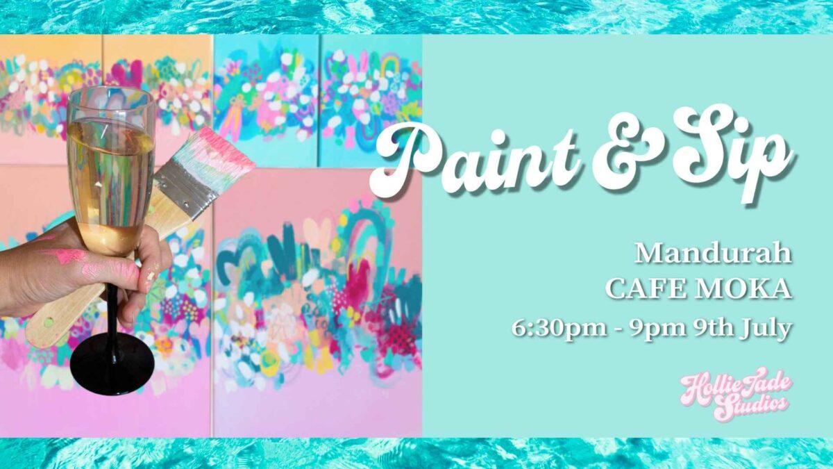 Mandurah Paint & Sip – Abstract Night