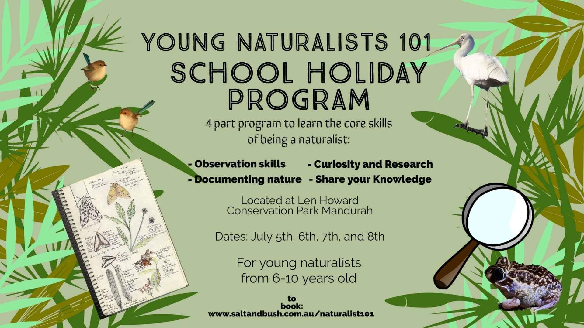 Young Naturalist School Holiday Program