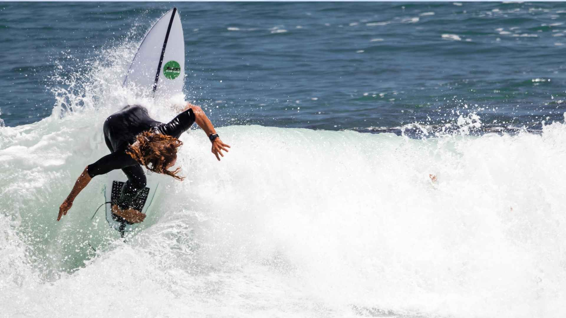 Surfing scene near perth