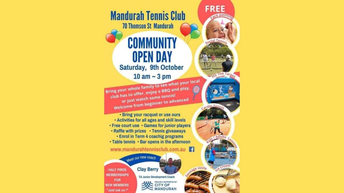 Mandurah Tennis Club Community Open Day