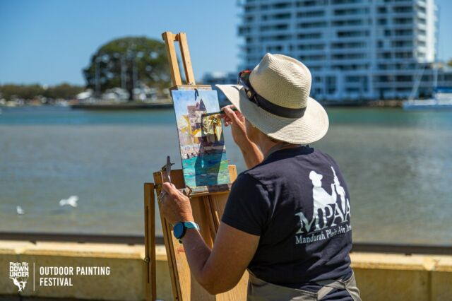 @WesternAustralia's largest outdoor painting festival is here in Mandurah with the official opening events commencing 11 September. See the Plein Air Down Under Feature Artist Exhibition presenting the artwork of Herman Pekel, Lyn Diefenbach, Leon Holmes, Val Brooks and Sue Hibbert from this Saturday.   Kicking off a flurry of workshops, paint-outs, exhibitions, demonstrations and artist talks is the World Wide Paint Out at the @mandurahpac. Get details from our website - find the events calendar and look for Plein Air Down Under.   📷 @pleinairdownunder  @city_of_mandurah #mandurah #mandurahmoment #visitmandurah #relaxedbynature #wanderoutyonder #thisiswa #holidayherethisyear #westernaustralia #perth #seeperth #pleinair #pleinairdownunder #padu #enpleinair #outdoorart #artfestival #thingstodowithkids #kidsinperth #australia #seeaustralia #painting #artexhibitions #artistslife